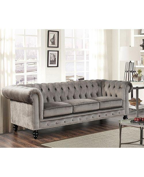 Abbyson Living Saria Velvet Living Room Collection