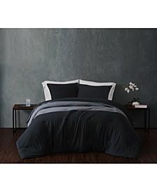 CLOSEOUT! Color Block Jersey Full/Queen Comforter Set