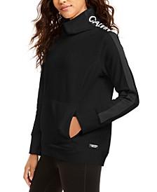 Fleece Mock-Neck Sweatshirt