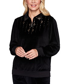 Bright Idea Velour Embellished Sweatshirt