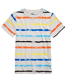 Big Boys Rainbow-Striped T-Shirt, Created For Macy's