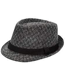 Men's Brushed Herringbone Check Fedora