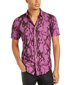 INC Men's Serpent Short Sleeve Shirt, Created For Macy's