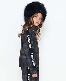 Lanoosh Little Girls and Boys Long Sleeve Sweater with A High Neck and Logo Elastic Band On Sides