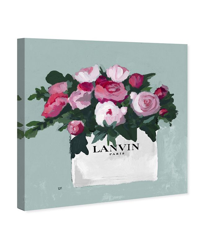 """Oliver Gal Pink and Mint Bouquet Canvas Art, 36"""" x 36"""""""