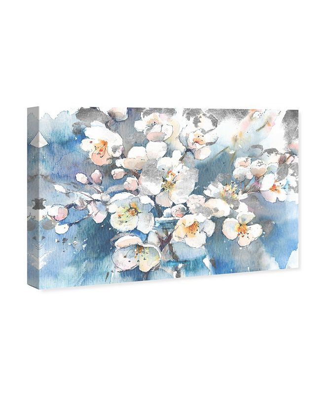 """Oliver Gal Spring Blossom in Blue Canvas Art, 15"""" x 10"""""""