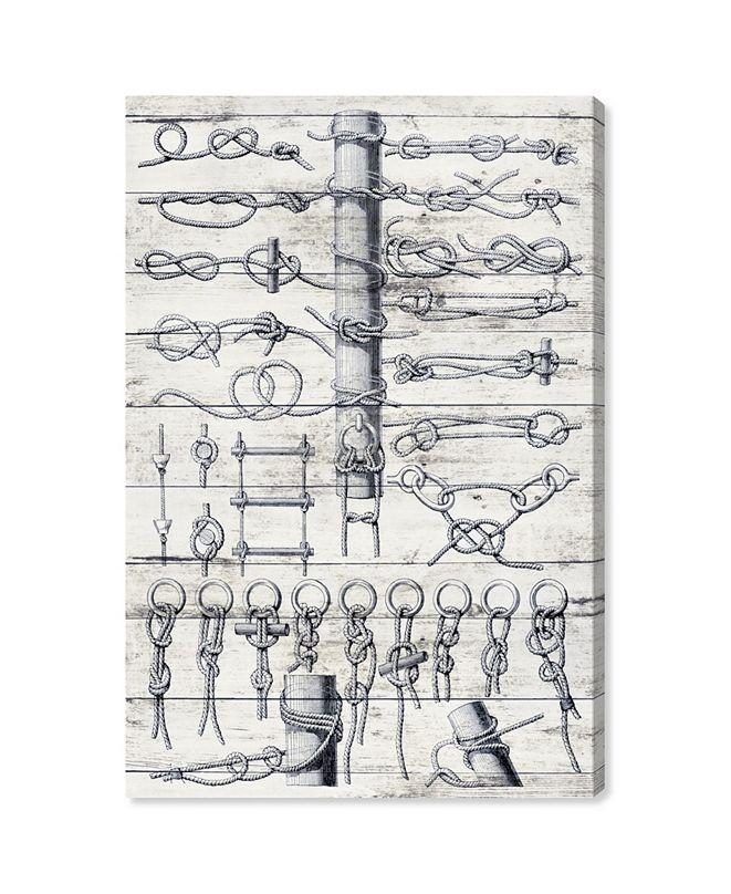 """Oliver Gal Sea Knots Canvas Art, 10"""" x 15"""""""
