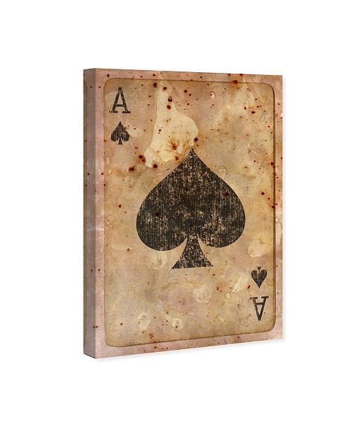 """Oliver Gal Ace of Spades Canvas Art, 10"""" x 15"""""""