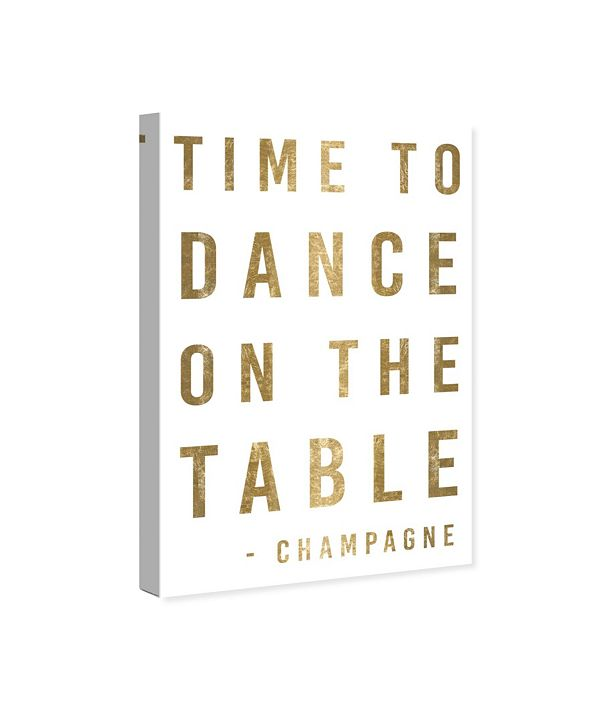 "Oliver Gal Time To Dance Gold Metallic Canvas Art, 10"" x 15"""