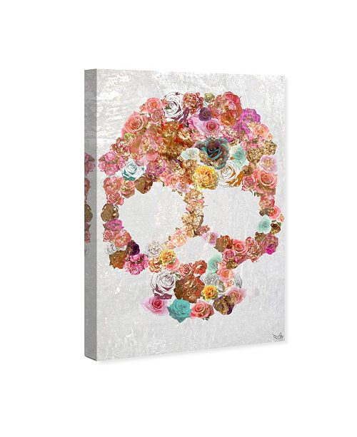 "Oliver Gal Skull of Roses Canvas Art, 24"" x 36"""