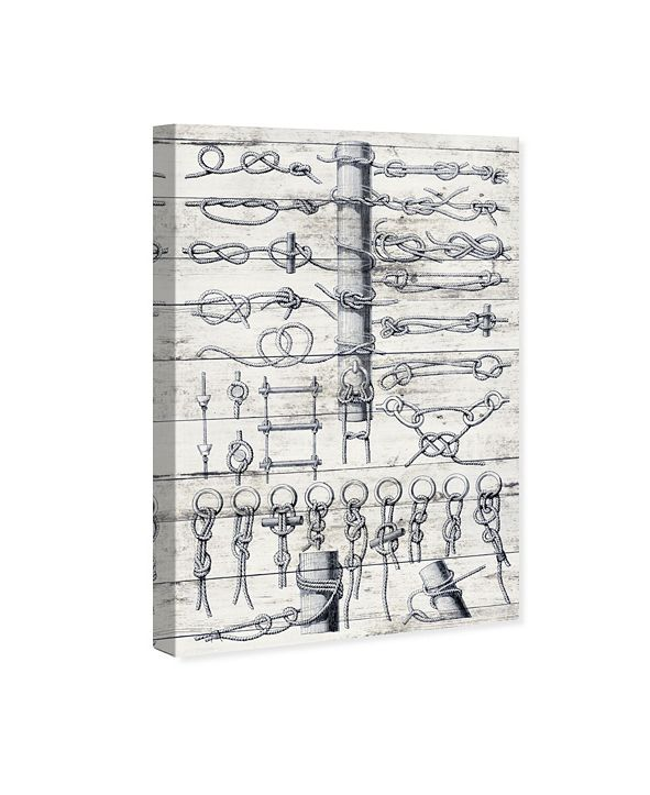 """Oliver Gal Sea Knots Canvas Art, 24"""" x 36"""""""