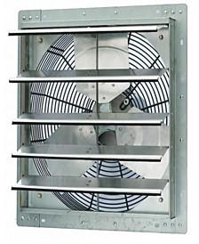 """18"""" Single Speed Shutter Exhaust Fan, Wall-Mounted"""