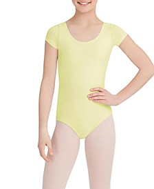 Little and Big Girls Short Sleeve Leotard