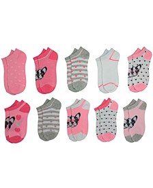 Baby Girl's 10-Pack Frenchie No Show Cushion Socks