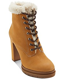 Women's Darcy Lace-Up Dress Booties