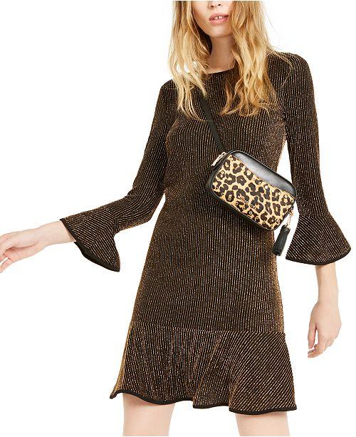 Michael Kors Metallic Ruffled Dress, Regular & Petite