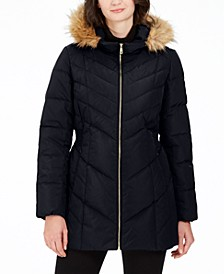 Hooded Chevron Down Puffer Coat, Created for Macy's
