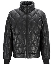 BOSS Men's Jekob Quilted Bomber Jacket