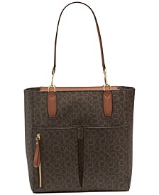 Elaine North South Signature Tote