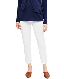 Motherhood Maternity The Curie Secret Fit Belly Twill Slim Ankle Pant
