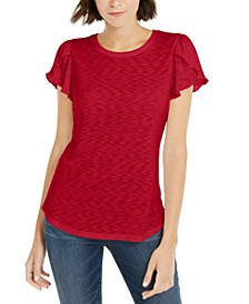 INC  Tulip-Sleeve Top, Created For Macy's