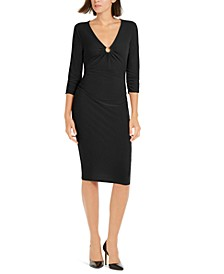 INC  Ring-Hardware Ruched Midi Dress, Created for Macy's