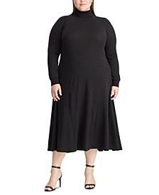 Plus Size High-Neck Dress