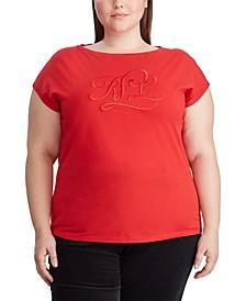 Ralph Lauren Plus Size Jersey Boatneck T-Shirt