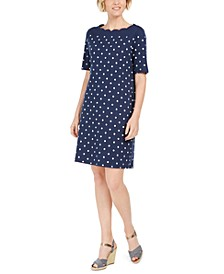 Sport Scalloped-Neck Shift Dress, Created For Macy's