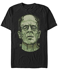 Universal Monsters Men's Frankenstein Big Face Short Sleeve T-Shirt