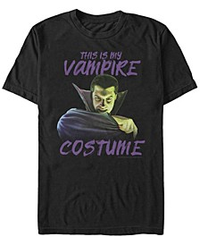 Universal Monsters Vampire Costume Men's Short Sleeve T-shirt