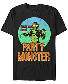 Universal Monsters Men's Creature From the Black Lagoon Party Monster Short Sleeve T-Shirt