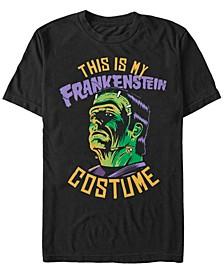 Universal Monsters Men's Frankenstein Halloween Costume Short Sleeve T-Shirt