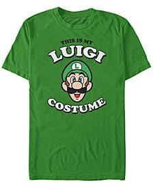 Nintendo Men's Super Mario Luigi Halloween Costume Short Sleeve T-Shirt