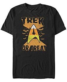 Star Trek Men's Trek or Treat Candy Corn Badge Halloween Short Sleeve T-Shirt