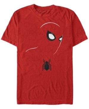 Marvel Men's Spider-Man Big Face Silhouette Costume Short Sleeve T-Shirt