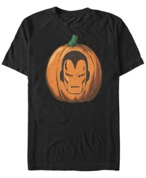 Marvel Men's Iron Man Mask Carved Pumpkin Short Sleeve T-Shirt