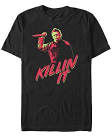 Halloween 2 Men's Michael Myers Retro Killin It Short Sleeve T-Shirt