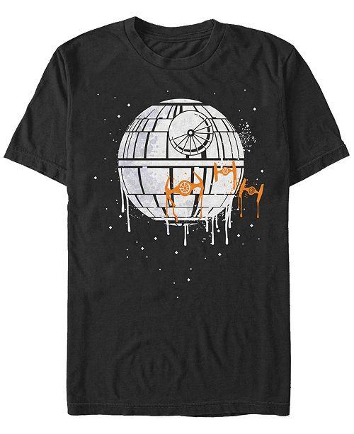Fifth Sun Star Wars Men's Dripping Death Star Short Sleeve T-Shirt