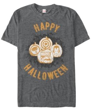 Marvel Men's Comics Happy Halloween Pumpkin Logos Short Sleeve T-Shirt