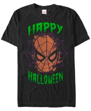 Marvel Men's Spider-Man Big Face Happy Halloween Short Sleeve T-Shirt