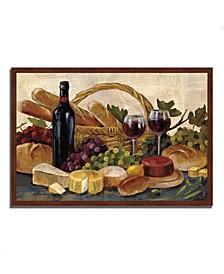 "Tuscan Evening Wine by Silvia Vassileva Framed Painting Print, 47"" x 32"""