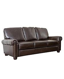 "Shirin 86"" Leather Sofa"