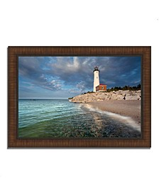 "Crisp Point Lighthouse Framed Photograph Print, 36"" x 26"""