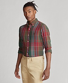 Men's Plaid Cotton Twill Shirt