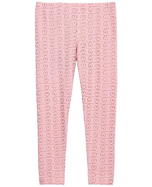 Epic Threads Toddler Girls Glitter Heart Leggings, Created For Macy's