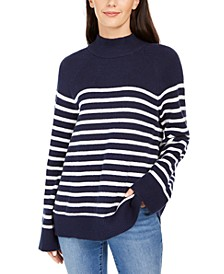 Striped Mockneck Sweater, Created For Macy's