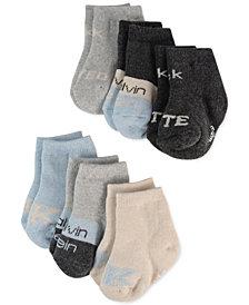 Calvin Klein Baby Boys & Girls 6-Pk. Cute & Loved Socks