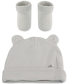 Baby Girls 2-Pc. Hat & Booties Set