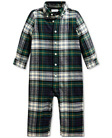 Baby Boy Plaid Cotton Twill Coverall